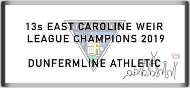 13 East Caroline Weir League Champions 2