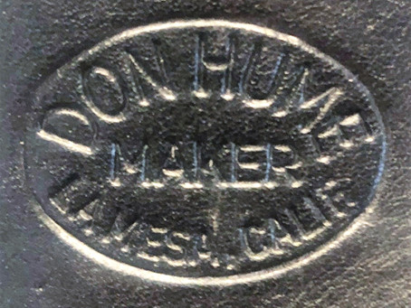 The unusual construction of Hume gunleather