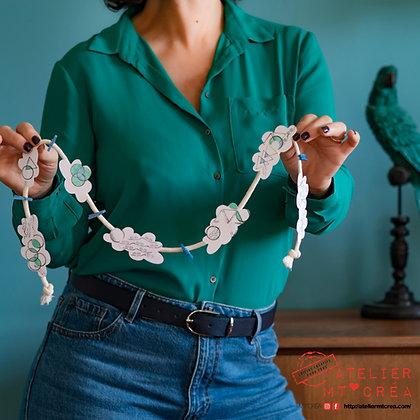 Kit DIY Guirlande Nuages porte-photos