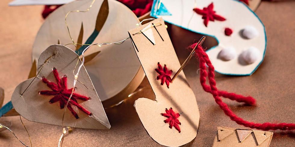 La guirlande de Noël à broder en live