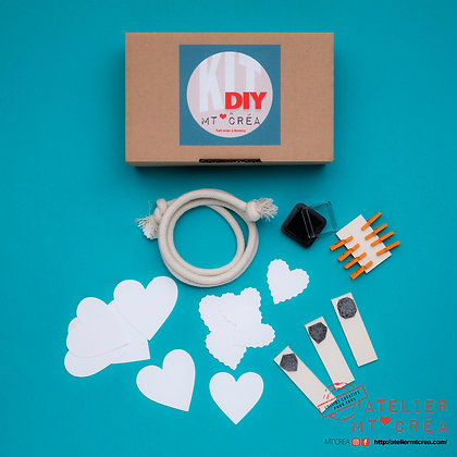Kit DIY Guirlande Coeurs porte-photos