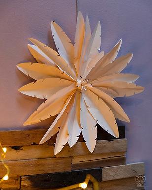 Décoration murale de plumes de papier. Cours en Live.