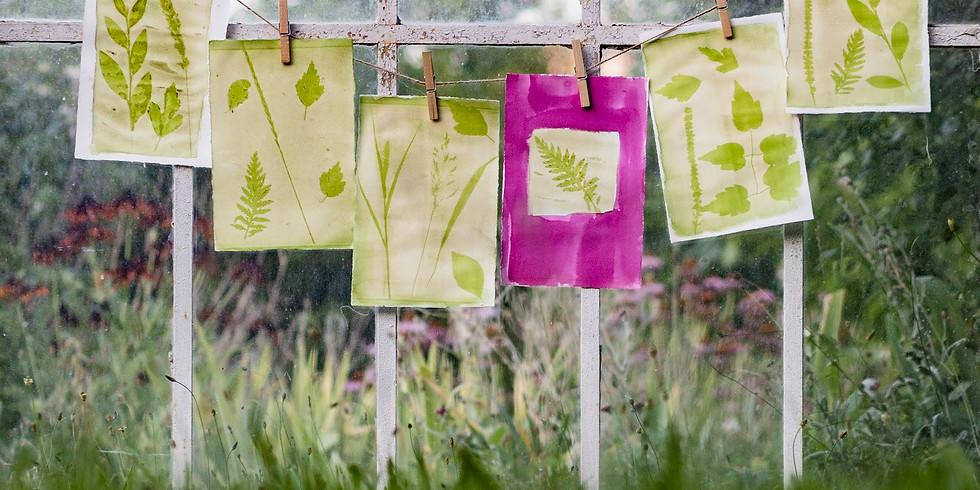 Atelier complicité 1 parent/enfant - Les encres de légumes et les empreintes végétales .