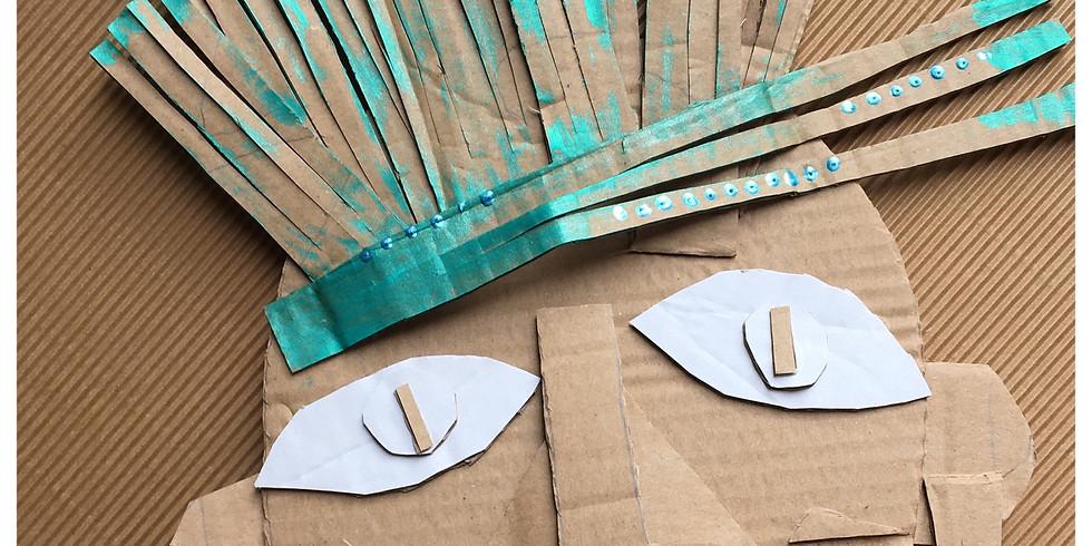 une sculpture en carton  - cours en live