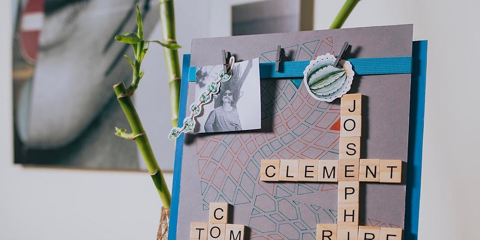 Atelier complicité - 1 parent/ enfant -Un mémo Scrabble