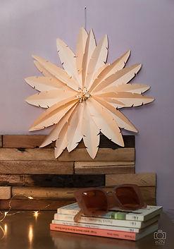 Décoration murale de plumes de papiers 2