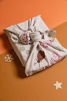 Apéro créatif impression sur tissus pour vos emballages de Noël .