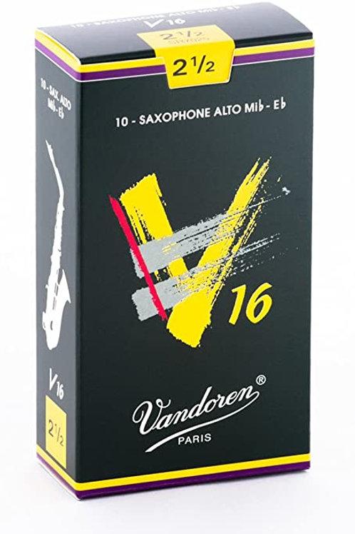 Cañas Vandoren 2 1/2 y 3 para saxofón alto modelo V 16