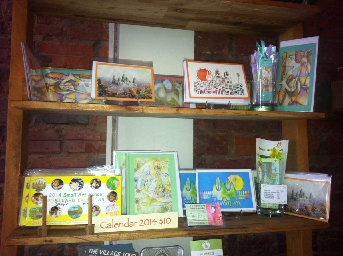 Cards sale at the New Leaf Book Cafe