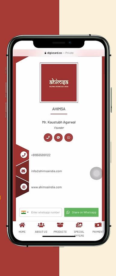 Ahimsa India's Digital Card