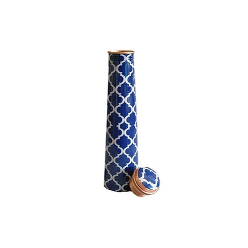 Slim Copper Bottle- Marble Art