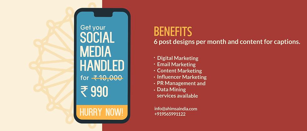 social media handled benefits