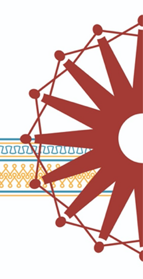 red charkha with white background