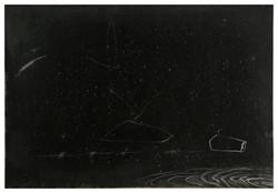 遠方之死  Death in Distance 82-04 1982 油彩、畫紙 74cm x 108cm