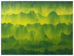 台灣山脈 Mountain Range of Taiwan 12-01 2012 油彩、畫布 150cm x 200cm