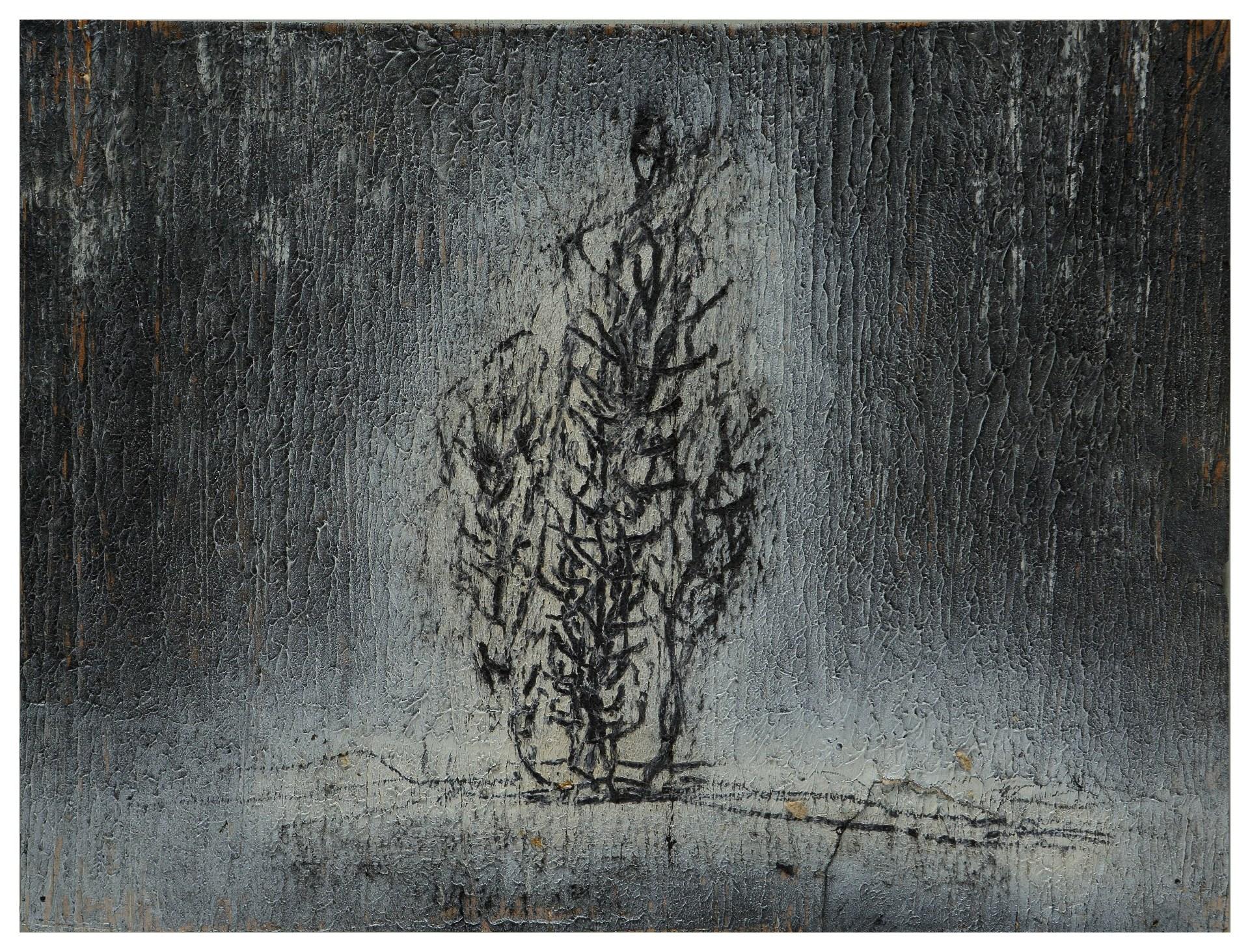 淨化之夜 Transfigured Night 90-13 1990 油彩、畫紙 27cm x 36cm