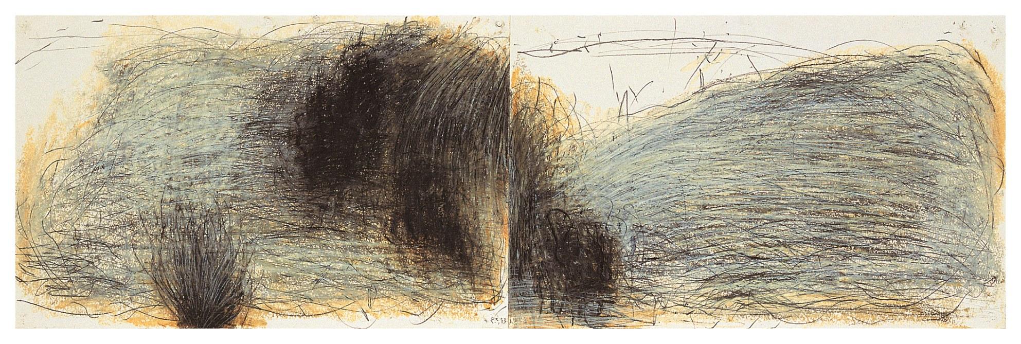 聖巴爾斯島 St. Barth 93-09 1993 油彩、畫紙 61cm x 194cm