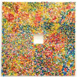 金樽/春 Jinzun/Spring 2019 油彩、複合媒材 300x300cm