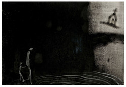 遠方之死  Death in Distance 82-01 1982 油彩、畫紙 74cm x 108cm