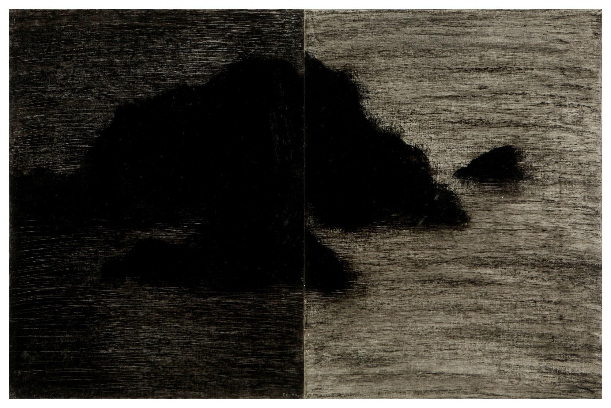 聖巴爾斯島 St. Barth 95-17 1995 油彩、畫紙 65cm x 98cm