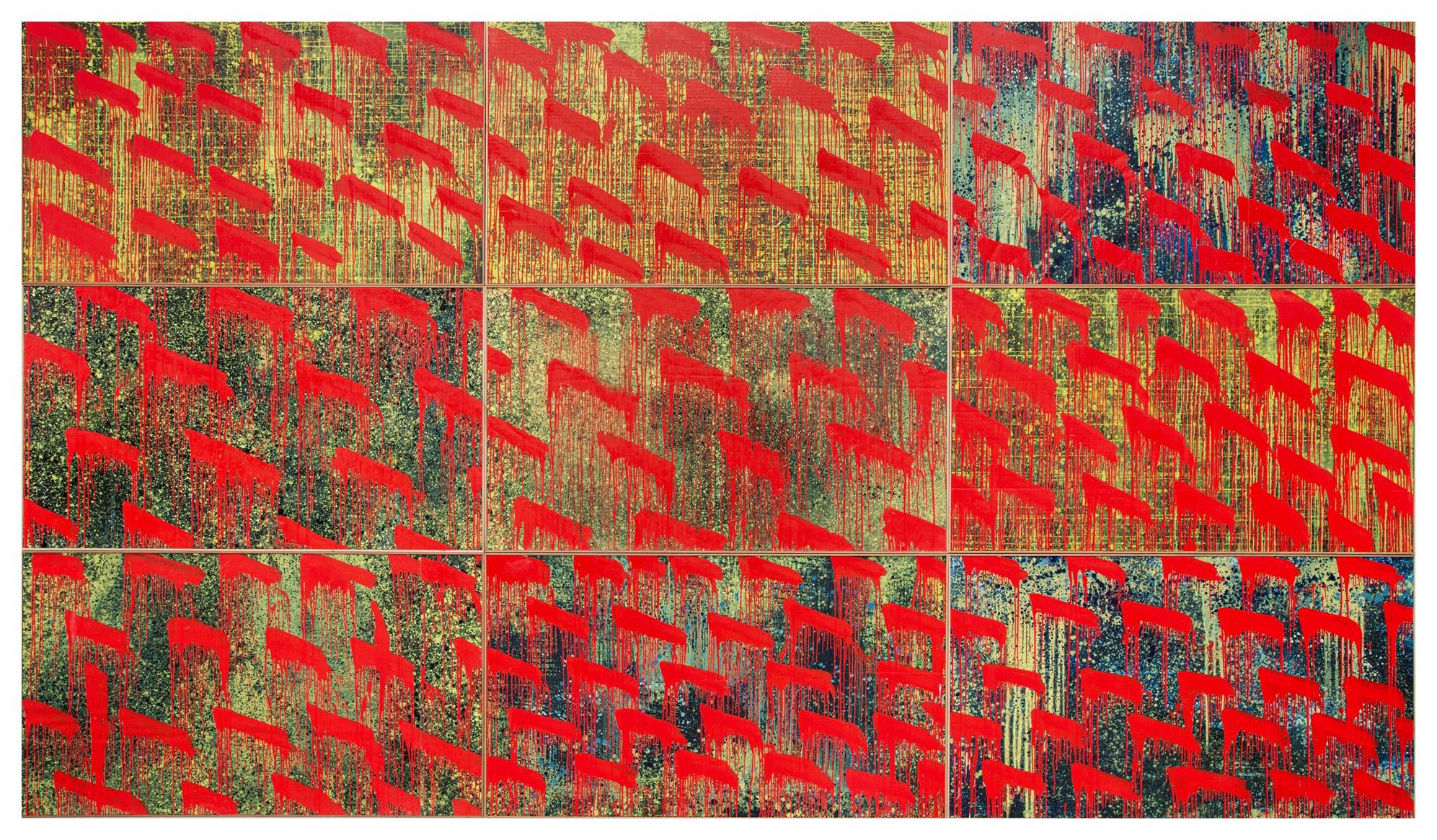 金樽/秋 Jinzun/Autumn 2019 油彩、複合媒材 360cm x 630cm