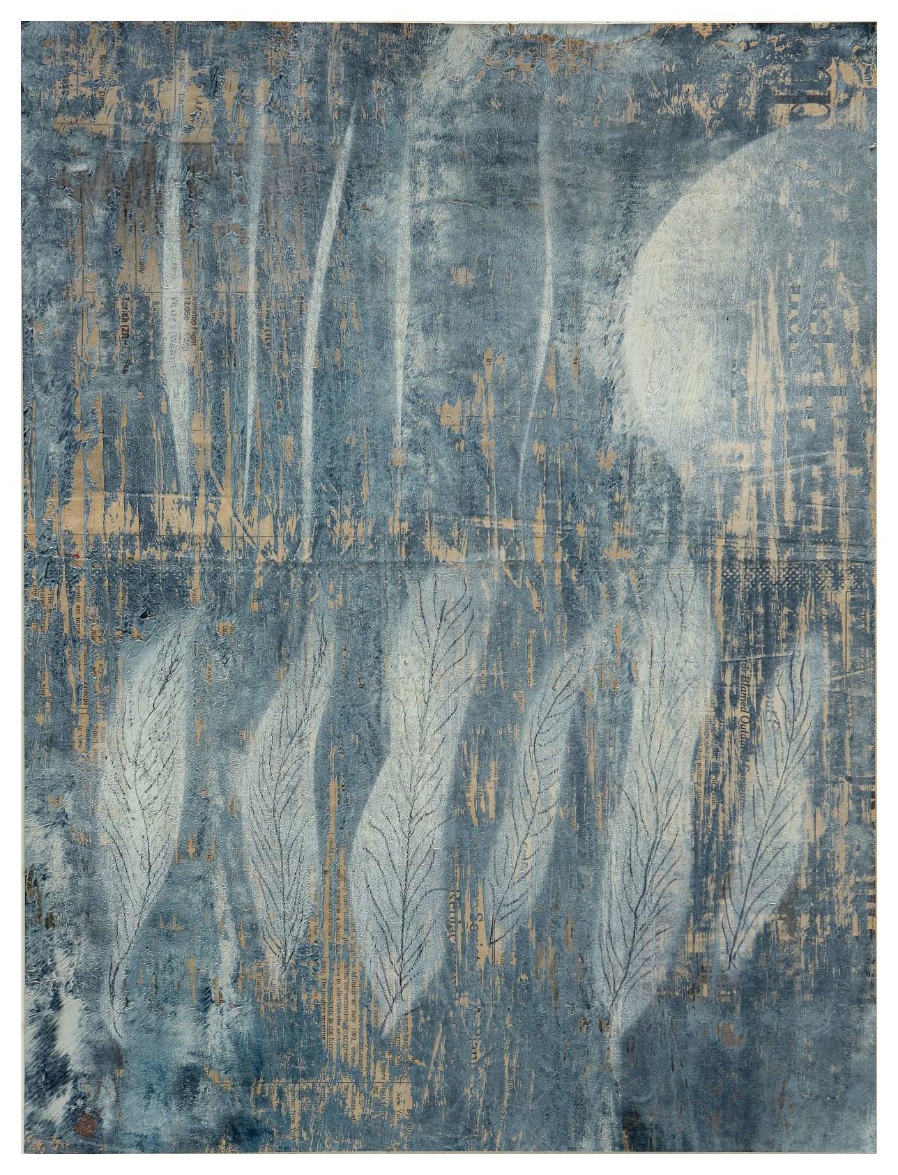 淨化之夜 Transfigured Night 90-14 1990 油彩、畫紙 49cm x 37cm