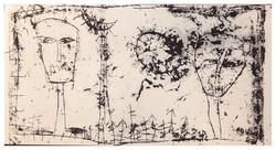 茫 Lost 1964 油彩、畫紙 50cm x 91cm