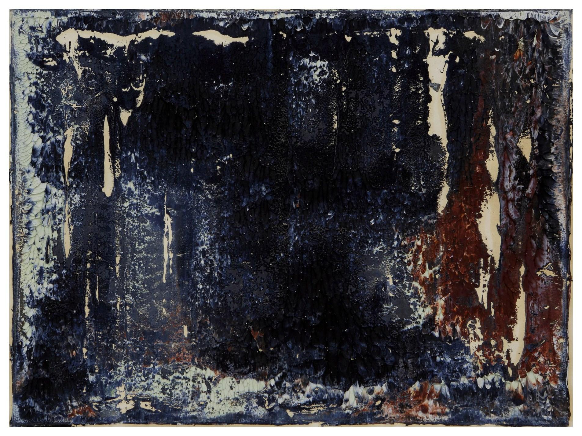 淨化之夜 Transfigured Night 90-12 1990 油彩、畫紙 30cm x 41cm