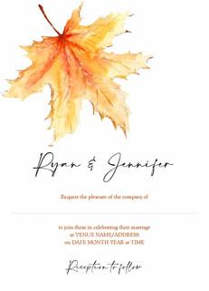 Autumn Leaf Invite