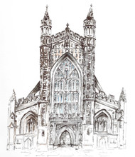 Bath Abbey. Ink