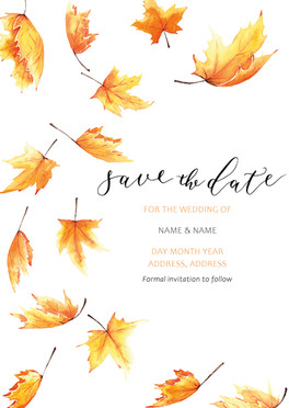 Autumn Inspired Save the Dates
