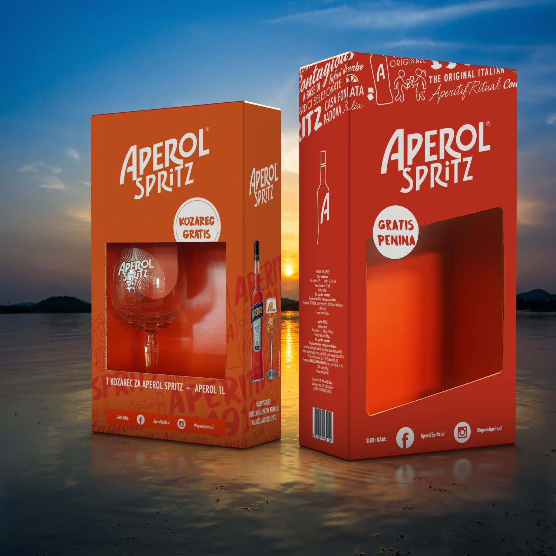 Embalaža za Aperol.