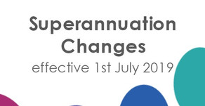 Super changes from 1st July 2019
