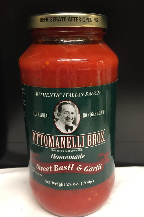 Authentic Old World Style Homemade Sweet Basil & GarlicSauce