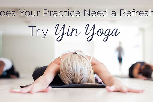 Slow Down Sunday - Yin Yoga Master class - 15th Sept 2019