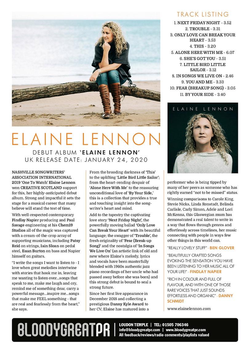 Bloody Great EPK Master Elaine Lennon JP