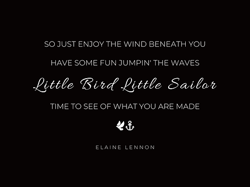 PDF Download Lyric Quote 'Little Bird Little Sailor' - Black on white