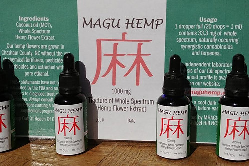 Magu Hemp Whole Spectrum Hemp Flower Tincture