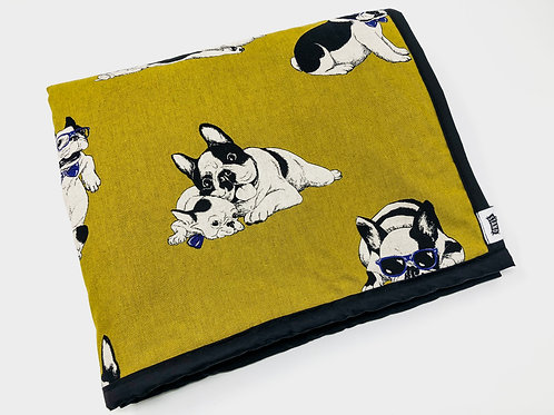 Frenchie Universal Dog Blanket - Green
