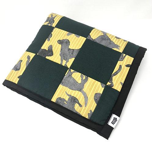Patchwork Doggie Universal Dog Blanket - Green
