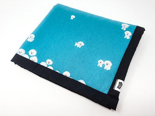 Bishon Turquoise Universal Dog Blanket