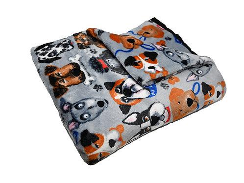 """Super Soft """"Dog heads"""" Blanket"""