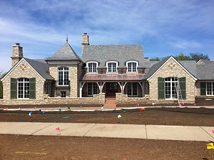 Custom single family residence engineered by Apex in Lawrence, KS