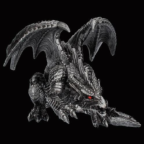 Wrath Dark Gothic Dragon Black Dragon with Piercing Red Eyes