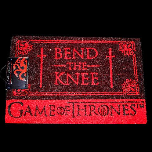 Bend the Knee Officially Licenced HBO Game of Thrones Doormat, Baratheon, Targaryen, Lannister, Seven Kingdoms, Iron Throne