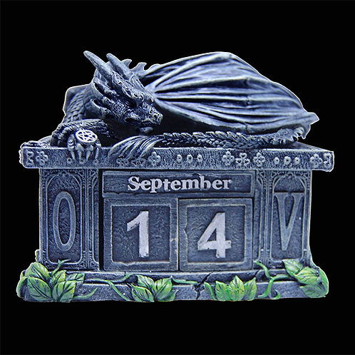 Fortunes Keeper Calendar removable blocks for changing month and date dragon calendar