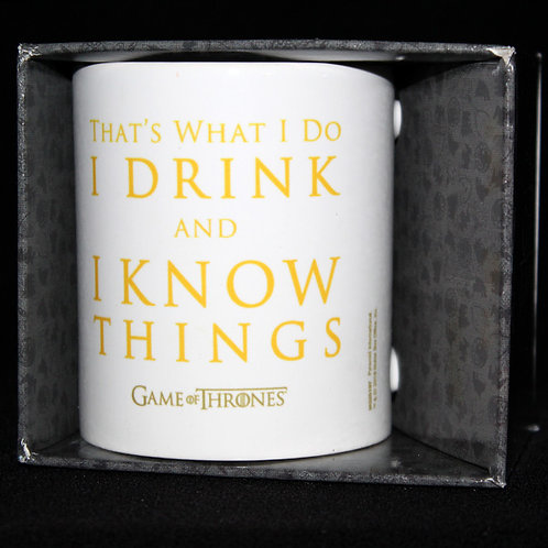That's What I Do I Drink and I Know Things Officially Licenced HBO Merchandise, Tyrion Lannister mug Ultimyth