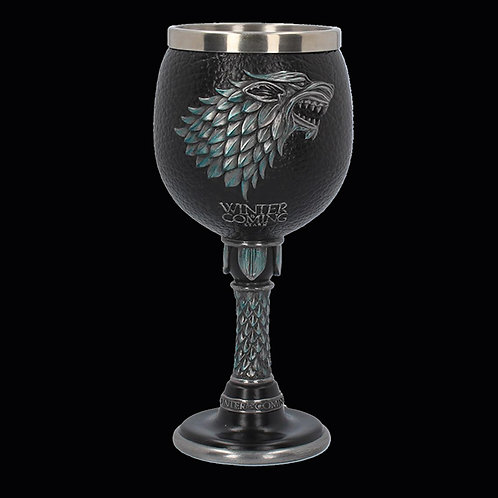 Official HBO Game of Thrones Winter is Coming Goblet removable stainless steel insert for easy cleaning
