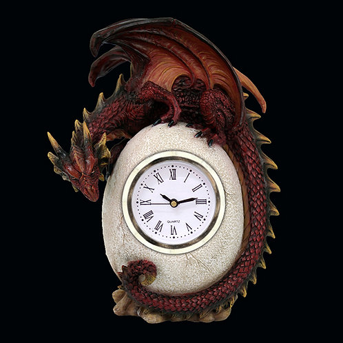 Timeless Guardian Mantle Clock gothic and fantasy centerpiece dragon clock