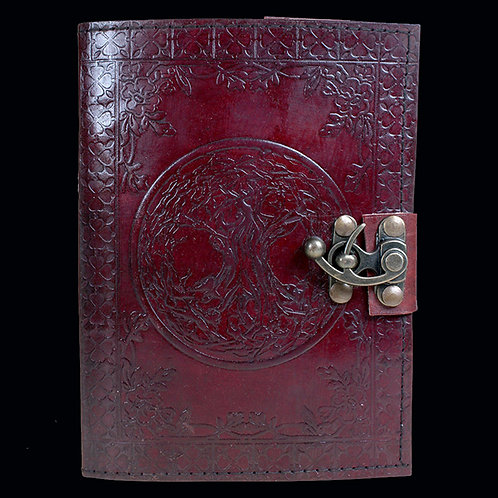 Tree of Life Leather Journal Large 15 cm x 21 cm handmade notebook diary